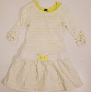 Baby Gap Adorable Yellow Striped Dress 3T
